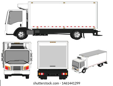 Truck vector With a white background