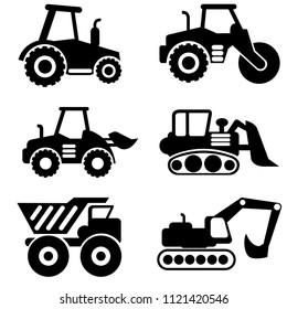 Truck vocter illustrations.