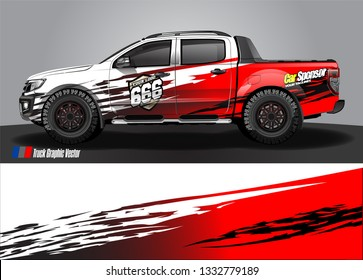 truck wrap decal design vector. abstract Graphic background kit designs for vehicle, race car, rally, livery, sport car
