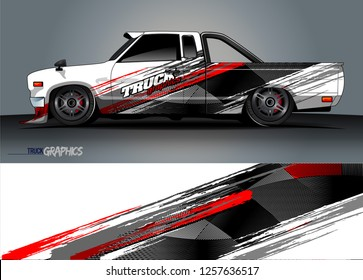 Truck wrap design. abstract background livery for vehicle vinyl wrap vector
