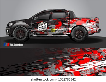 truck wrap design. simple lines with abstract background vector concept for vehicle vinyl wrap and automotive decal livery