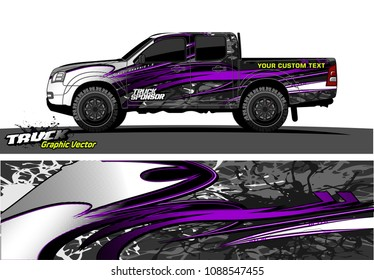 truck wrap design vector. abstract background for vehicle vinyl branding