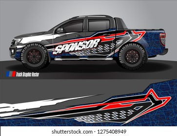 truck wrap design vector. abstract background for car decal, van, and other vehicle vinyl branding