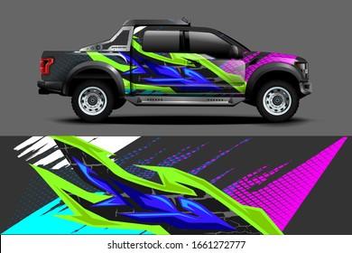 truck wrap Graphic Decal sticker design