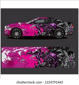 Truck,car And Vehicle  abstract racing graphic kit background for wrap and vinyl sticker