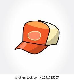 Trucker hat. Vector hat.