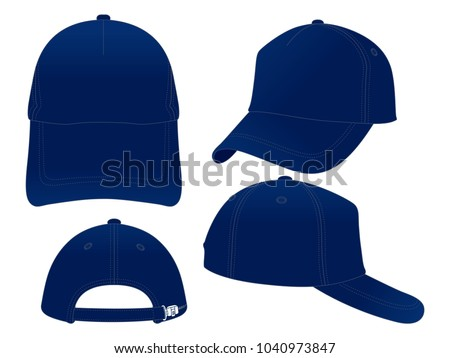 Trucker Navy Blue Baseball Cap Vector Stock Vector (Royalty Free ... af3411acc7d7