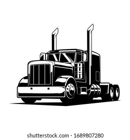 trucking black and white vector illustration, trucking vector illustration, very cool to use or print for you automotive lovers