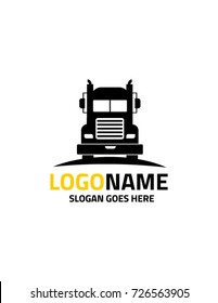 Trucking transportation logo template vector 2