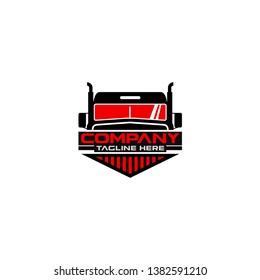 Trucking Vector Logo Design Template