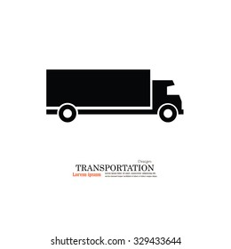 Truck.truck icon.truck vector icon .Transport icons.transportation vector illustration