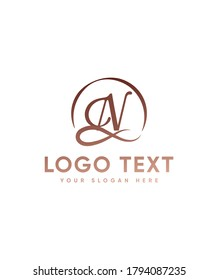 A true favorite and carefully handcrafted letter type N logo template, Vector logo for business and company identity
