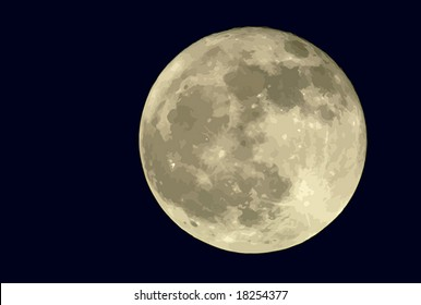 True full moon against a black sky. VECTOR. If you need a photo equivalent, see my #1210504.