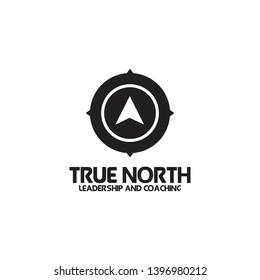 True North compass logo icon design