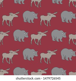 The True North Strong and Free Collection Repeat Pattern Vector