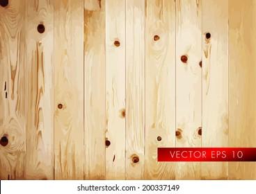 True rustic wooden floor - vector