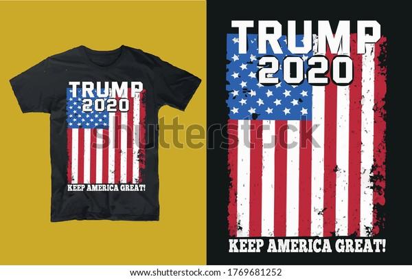Trump 2020 keep america great!-t shirt design