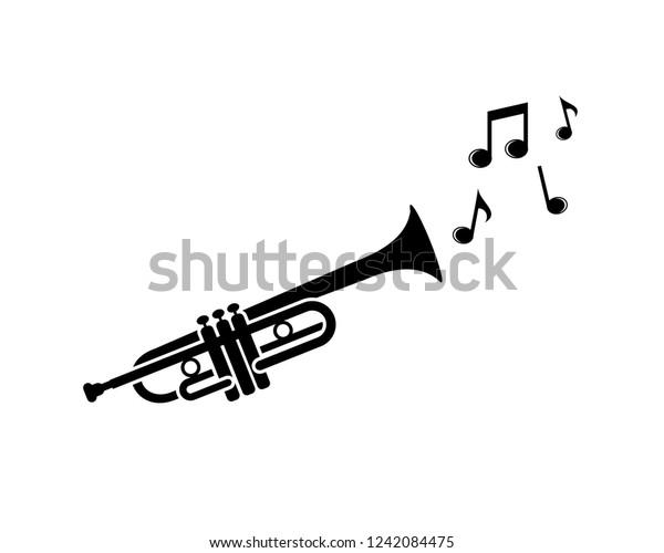 Trumpet Icon Along Scales Vector Stock Vector Royalty Free