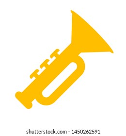 trumpet icon. Logo element illustration.  trumpet symbol design. colored collection.  trumpet concept. Can be used in web and mobile