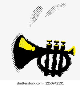 Trumpet music poster