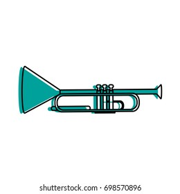 trumpet musical instrument icon image