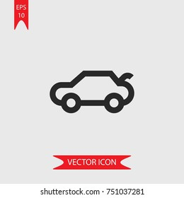 Trunk open vector icon, illustration symbol