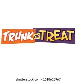 Trunk or Treat Headline Vector graphic text Halloween