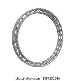Truss circle. Isolated on white background. 3D Vector illustration.