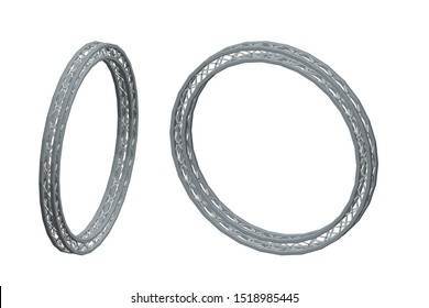Truss circle. Isolated on white background. 3D Vector illustration. Dimetric projection.