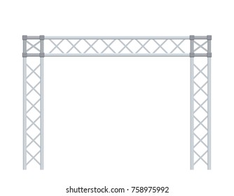 Truss construction. Isolated on white background. 3D Vector illustration.
