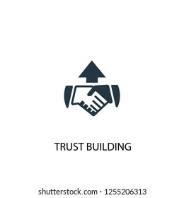trust building icon. Simple element illustration. trust building concept symbol design. Can be used for web and mobile.