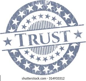 Trust rubber grunge stamp