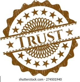 Trust rubbert stamp