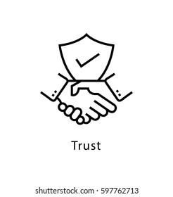 Trust Vector Line Icon