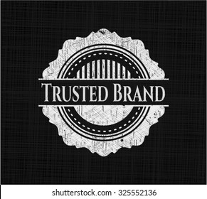 Trusted Brand on chalkboard