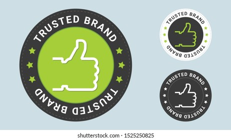 Trusted Brand stamp vector illustration. Vector certificate icon. Vector combination for certificate in flat style.