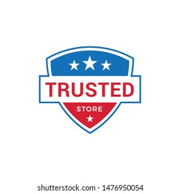 Trusted Store Logo Design Vector Template