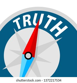 truth concept, compass