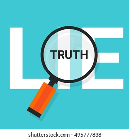 truth lie symbol text magnify magnifying find truth