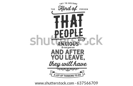 Try Become Kind Person That People Stock Vector Royalty Free