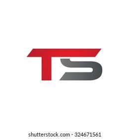 TS company linked letter logo