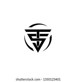 TS initial triangle monogram modernlogo