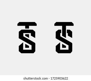 TS Letter Logo Design Creative Modern Vector