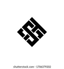 ts letter original monogram logo design