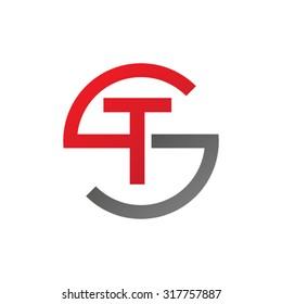 TS ST initial company circle S logo red