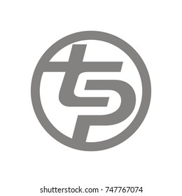 TS or TP or TPS logo design template vector