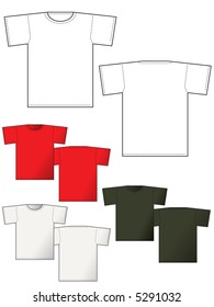 T-shirt back and front - Layout for presentation - vector