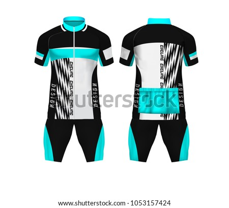 Bike T Shirt Designs   Tshirt Design Bike Jersey Kits Black Stock Vector Royalty Free