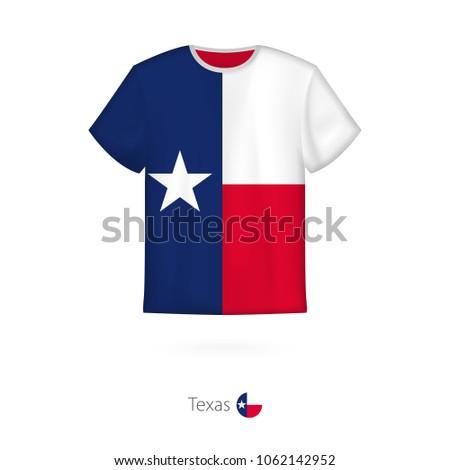 tshirt design flag texas us state stock vector royalty free
