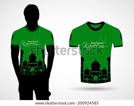 Festival T Shirt Design | Tshirt Design Muslim Community Festival Ramadan Stock Vector